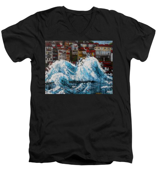 The Storm- Large Work Men's V-Neck T-Shirt
