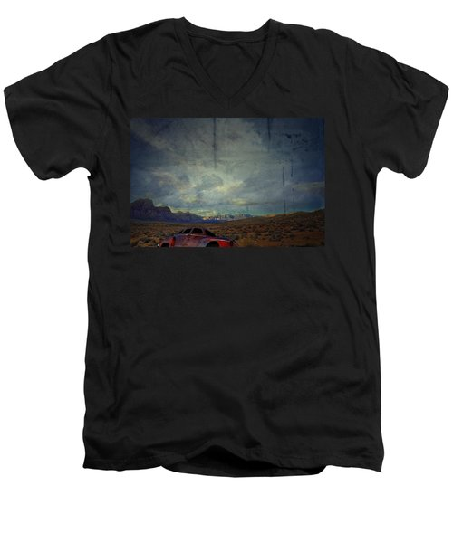 Men's V-Neck T-Shirt featuring the photograph The Story Goes On  by Mark Ross