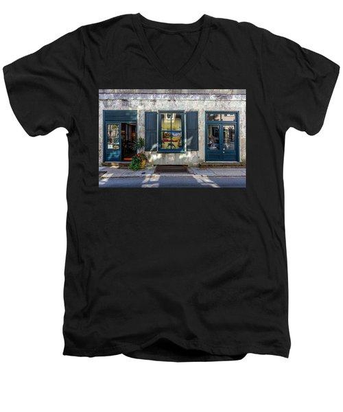 The Streets Of Charleston Men's V-Neck T-Shirt by Menachem Ganon