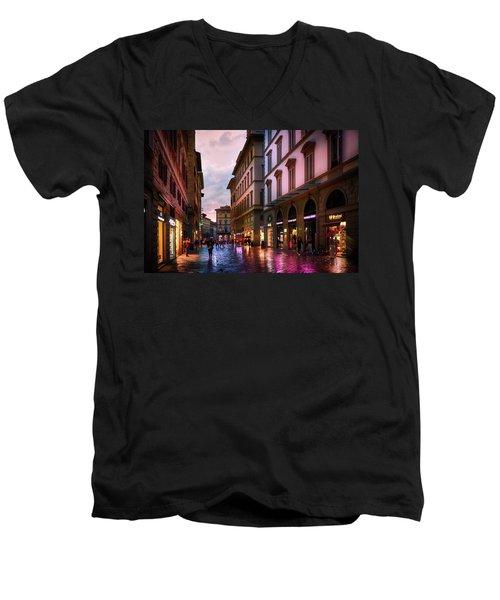 The Streets Of Florence Men's V-Neck T-Shirt
