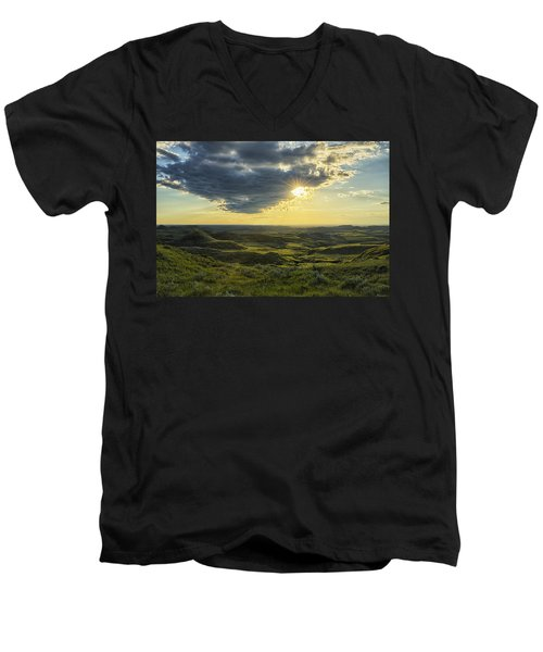 The Sun Shines Through A Cloud Men's V-Neck T-Shirt by Robert Postma
