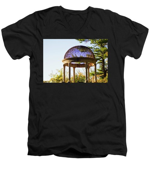 The Sunny Dome  Men's V-Neck T-Shirt by Jose Rojas