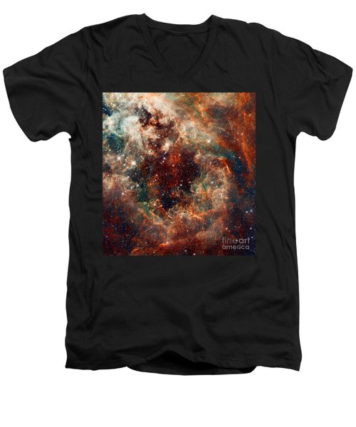 The Tarantula Nebula Men's V-Neck T-Shirt