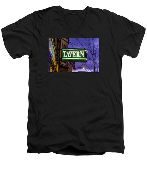The Tavern On Lincoln Men's V-Neck T-Shirt by Raymond Kunst