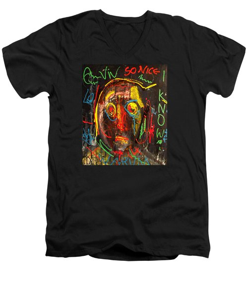 A Beauty Never Dies ........... Men's V-Neck T-Shirt by Sir Josef - Social Critic -  Maha Art