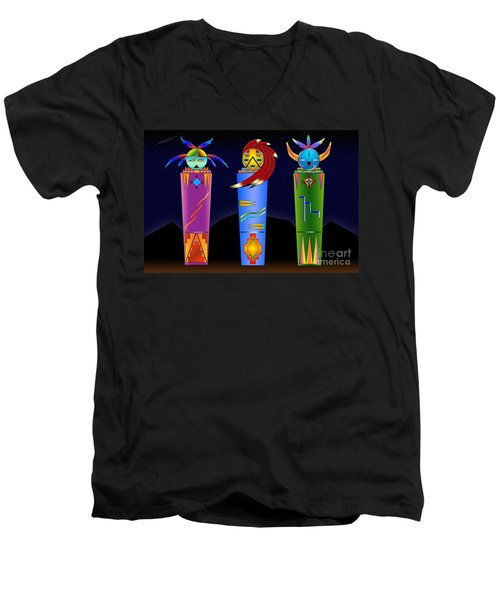 The Three Spirits Men's V-Neck T-Shirt