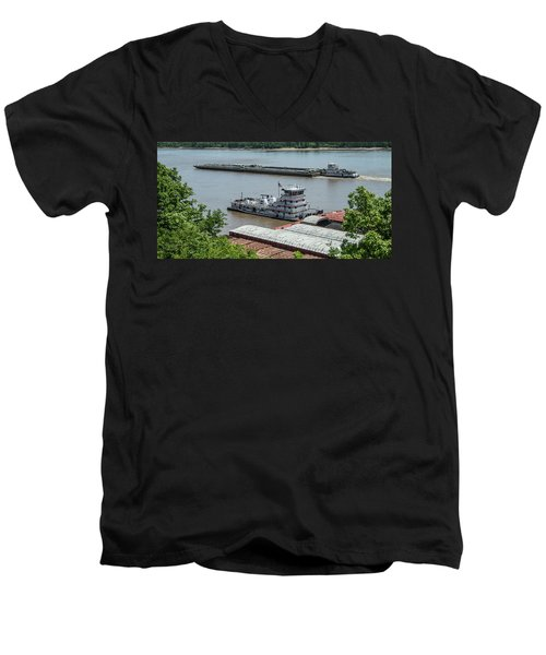 The Towboat Buckeye State Men's V-Neck T-Shirt by Garry McMichael