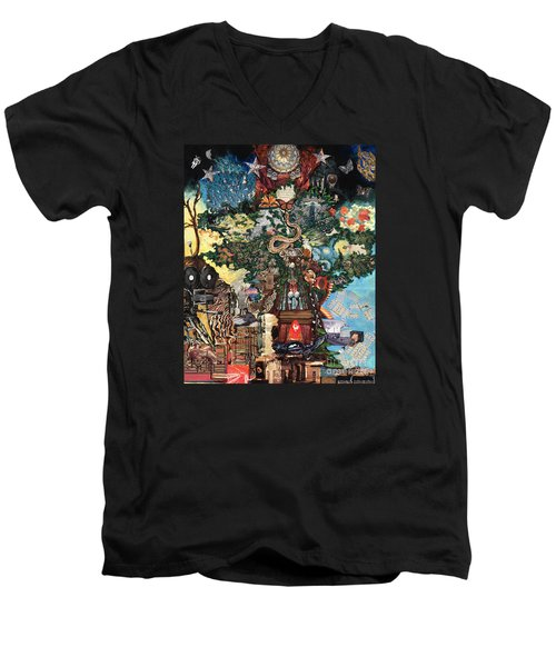 The Tree Men's V-Neck T-Shirt by Emily McLaughlin