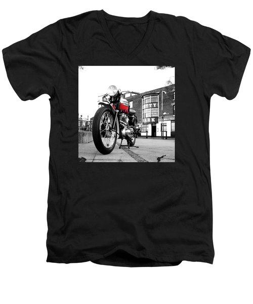The Trophy Tr5 Motorcycle Men's V-Neck T-Shirt