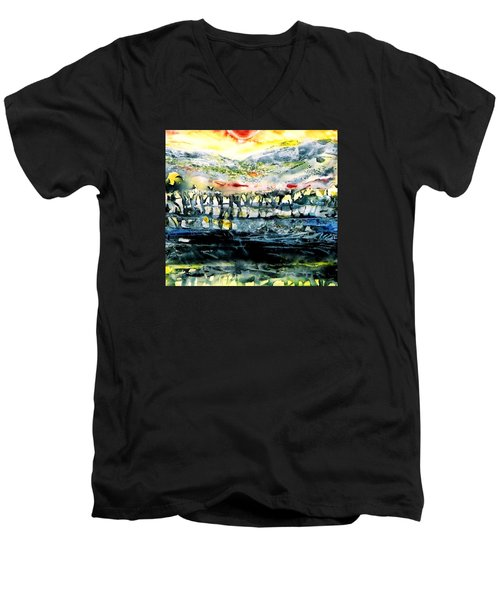 The Twisted Reach Of Crazy Sorrow Men's V-Neck T-Shirt by Trudi Doyle