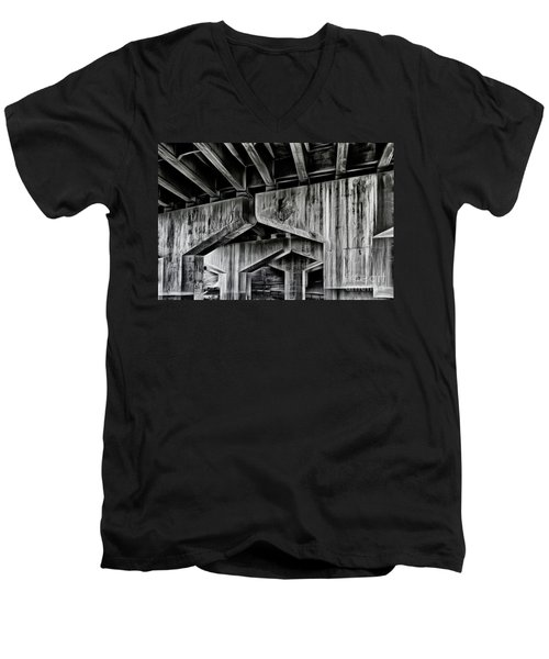 Men's V-Neck T-Shirt featuring the photograph The Urban Jungle by Brad Allen Fine Art