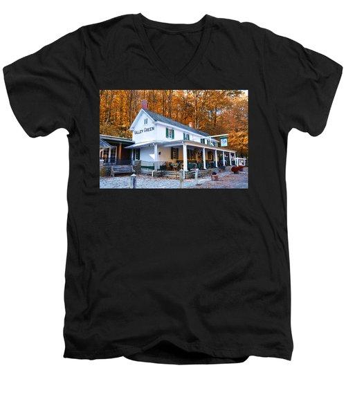 The Valley Green Inn In Autumn Men's V-Neck T-Shirt