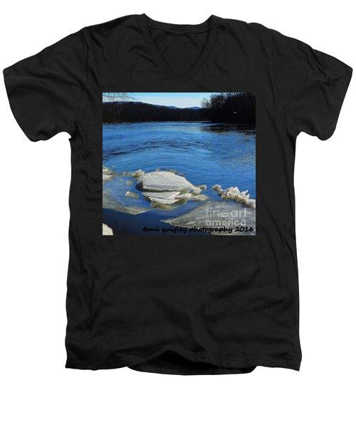 The Vanishing Winter Men's V-Neck T-Shirt