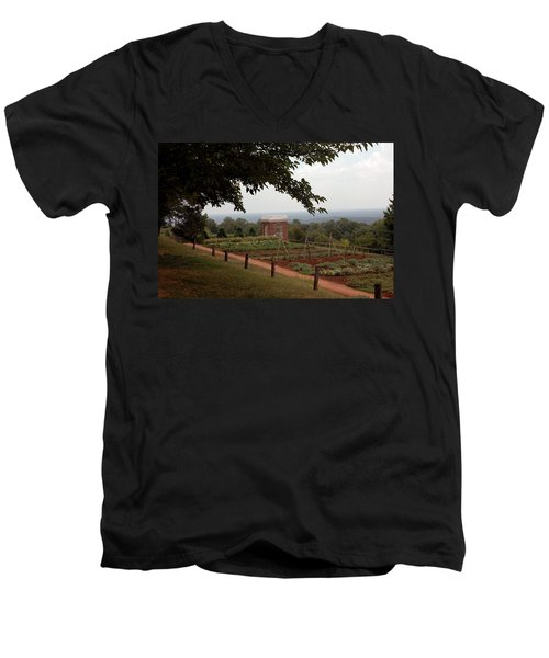 The Vegetable Garden At Monticello Men's V-Neck T-Shirt