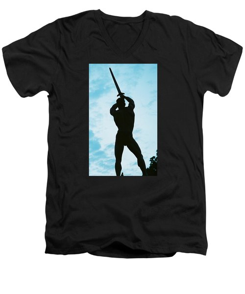 Men's V-Neck T-Shirt featuring the photograph The Victor by Jake Hartz