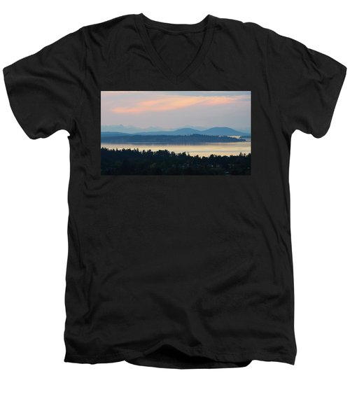 The View From Mt. Tolmie Men's V-Neck T-Shirt by Keith Boone