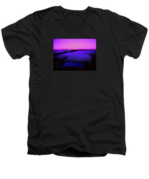 The Purple View  Men's V-Neck T-Shirt