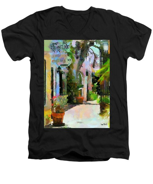 The Villa Men's V-Neck T-Shirt by Wayne Pascall