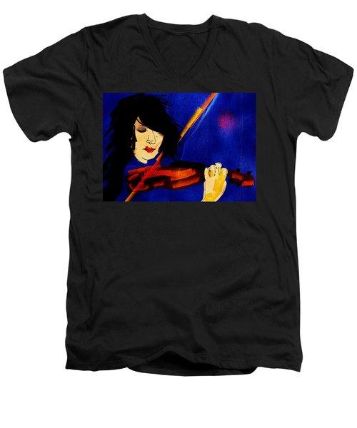 The Violinist Men's V-Neck T-Shirt