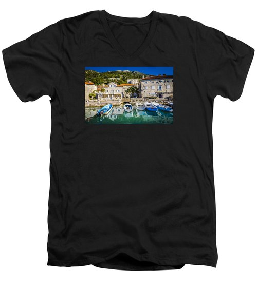The Waiting Boats Men's V-Neck T-Shirt