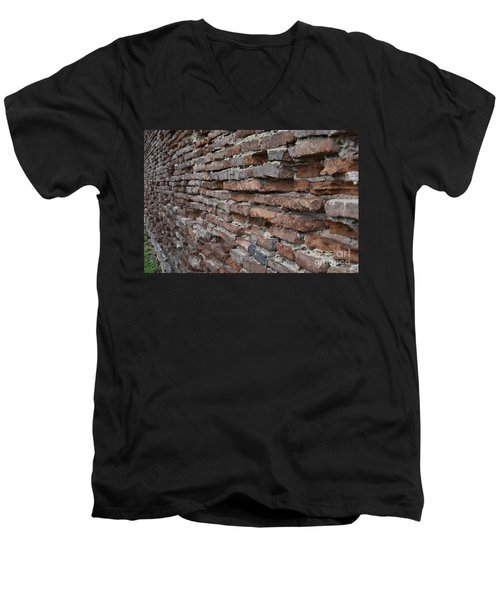 Men's V-Neck T-Shirt featuring the photograph The Wall by Cendrine Marrouat