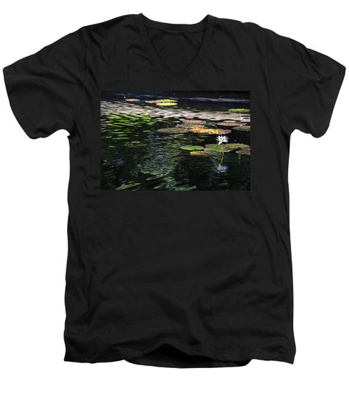 The Water Lily Men's V-Neck T-Shirt by Cendrine Marrouat