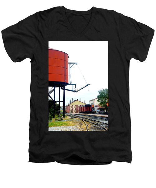 Men's V-Neck T-Shirt featuring the photograph The Water Tower by Paul W Faust - Impressions of Light