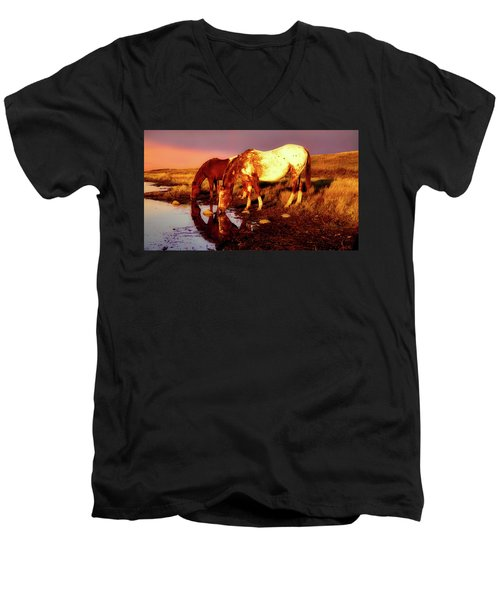 The Watering Hole Men's V-Neck T-Shirt
