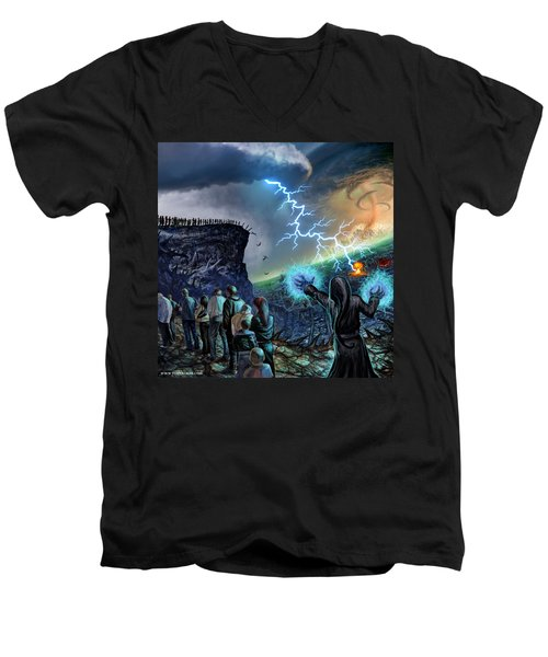 The Weak Shall Bring Us Down Men's V-Neck T-Shirt by Tony Koehl