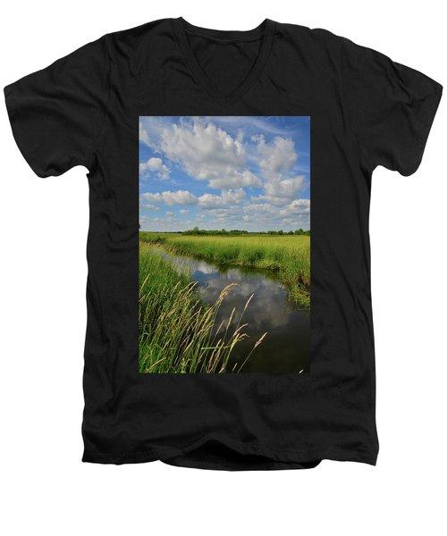 The Wetlands Of Hackmatack National Wildlife Refuge Men's V-Neck T-Shirt