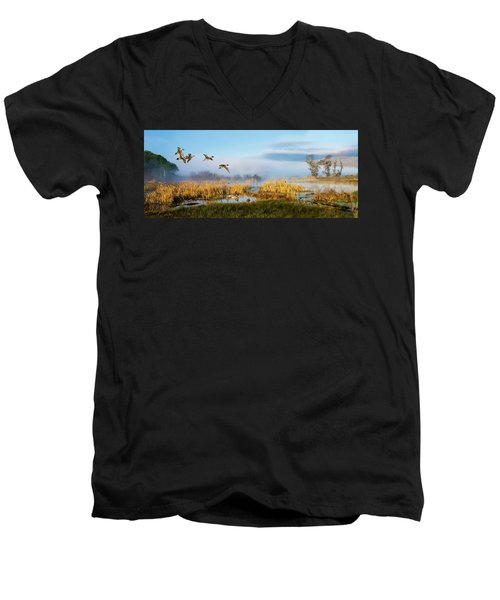 The Wetlands Men's V-Neck T-Shirt
