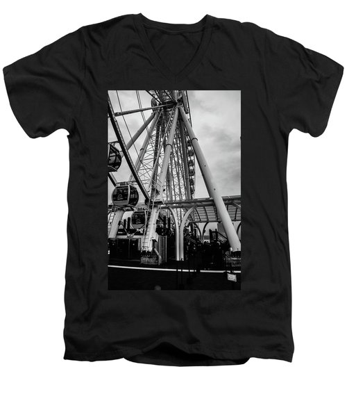 The Wheel Seattle  Men's V-Neck T-Shirt