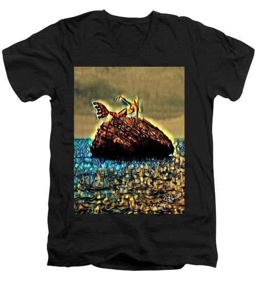 The Whisperer Men's V-Neck T-Shirt by Vennie Kocsis