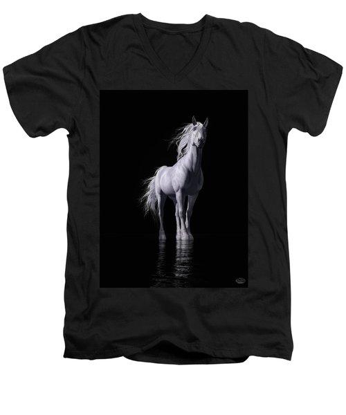 The White Horse Men's V-Neck T-Shirt