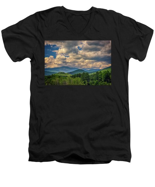 Men's V-Neck T-Shirt featuring the photograph The White Mountains by Rick Berk