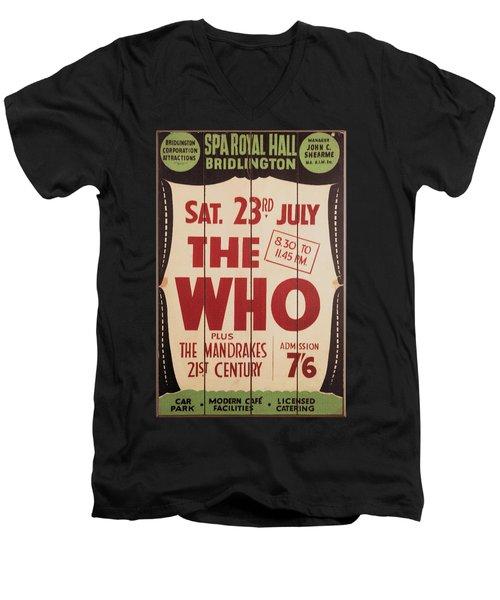 The Who 1966 Tour Poster Men's V-Neck T-Shirt