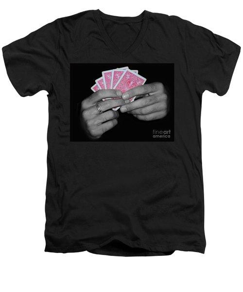 The Winning Hand Men's V-Neck T-Shirt