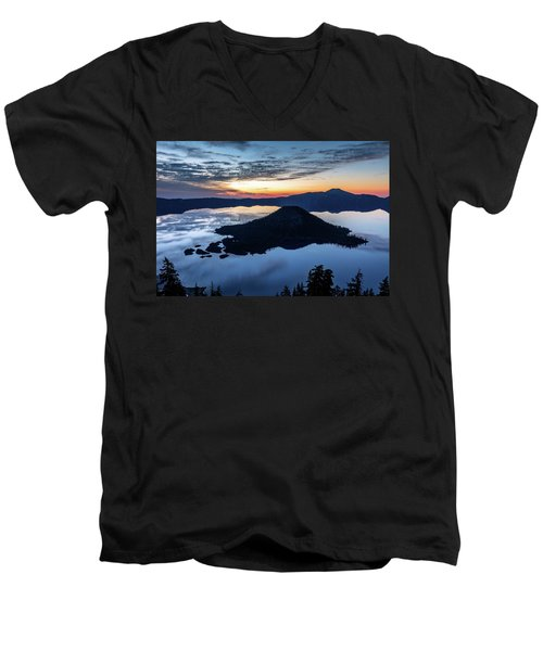 Men's V-Neck T-Shirt featuring the photograph The Wizard At Dawn by Pierre Leclerc Photography