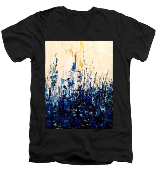 The Woods - Blue No.1 Men's V-Neck T-Shirt