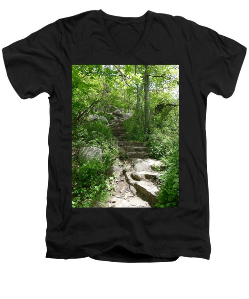 Men's V-Neck T-Shirt featuring the photograph The Work Of Unknown Hands by Joel Deutsch