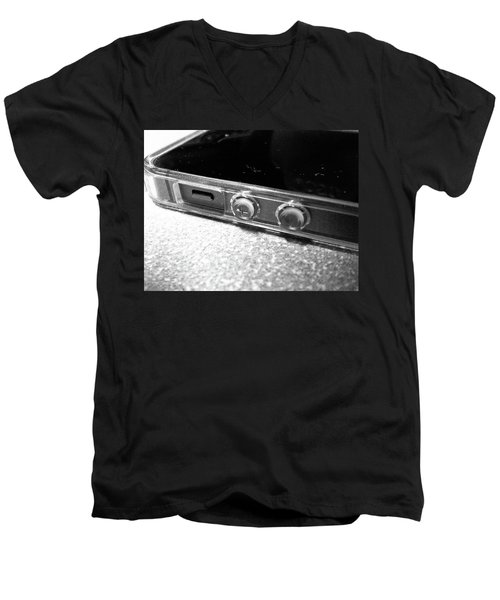 Men's V-Neck T-Shirt featuring the photograph The Work Phone by Robert Knight