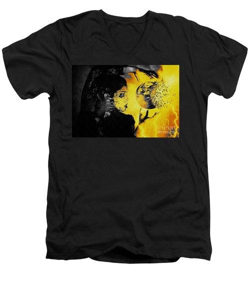 The World Is Mine Men's V-Neck T-Shirt