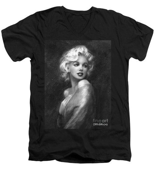 Theo's Marilyn Ww Bw Men's V-Neck T-Shirt
