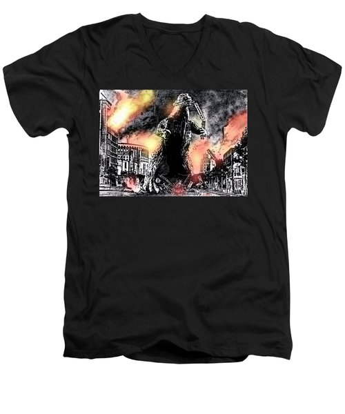There Goes Tokyo Men's V-Neck T-Shirt