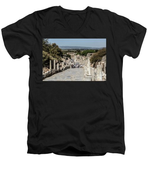 This Is Ephesus Men's V-Neck T-Shirt by Kathy McClure
