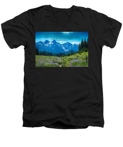 This Is My Fathers World 3 Men's V-Neck T-Shirt by Lynn Hopwood