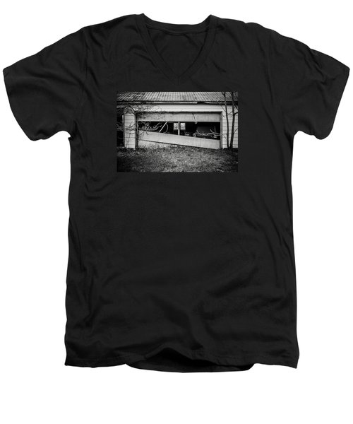 This Was Once The Perfect Hideout Men's V-Neck T-Shirt by Off The Beaten Path Photography - Andrew Alexander