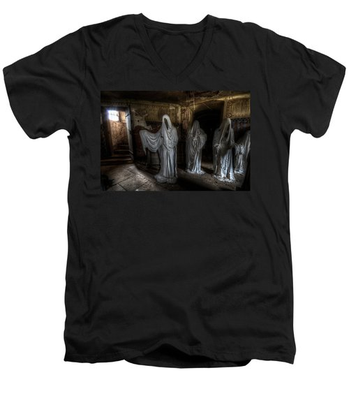 This Way Please Men's V-Neck T-Shirt by Nathan Wright