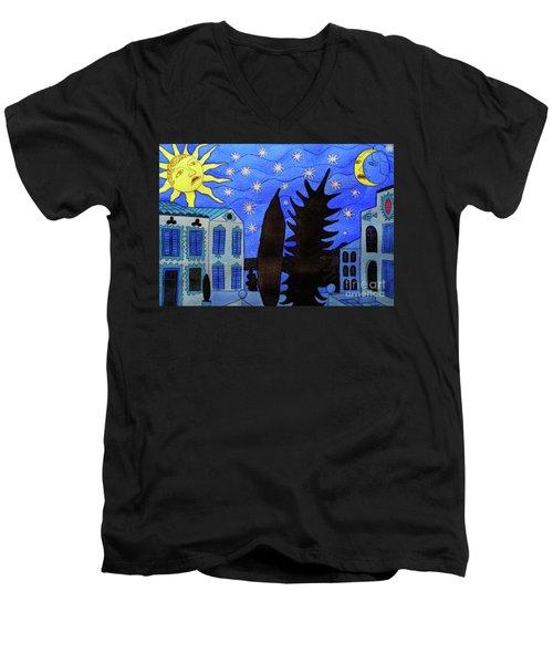 Those Romantic Nights Men's V-Neck T-Shirt