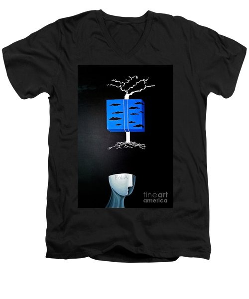 Thought Block Men's V-Neck T-Shirt